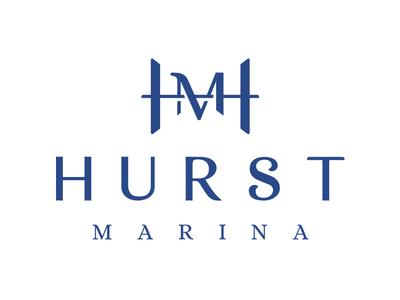 Hurst Marina symbol logo branding dock marina