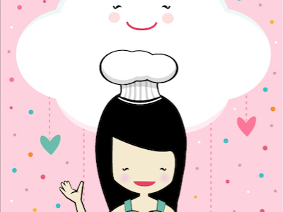 Bunnie Clouds bakery baker cute pink clouds bunnie