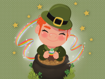 Lucky You stars clover four leaf clover luck lucky march green leprechaun irish st patricks day