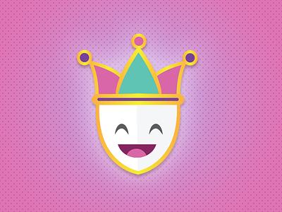 Mardi Gras Joker Icon gold pink illustration icon joker fat tuesday mardi gras