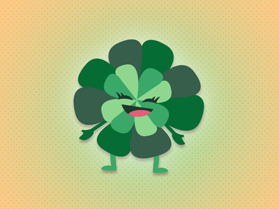 Four Leaf Clover - St Paddys Day Icon illustration ireland green st patricks day lucky clover