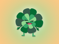Four Leaf Clover - St Paddys Day Icon