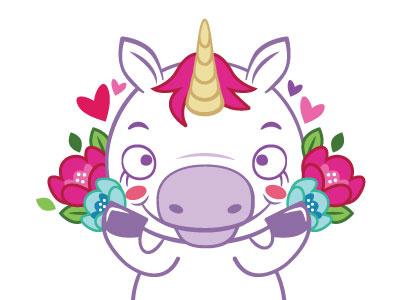 Just a pretty unicorn pink purple flowers unicorn