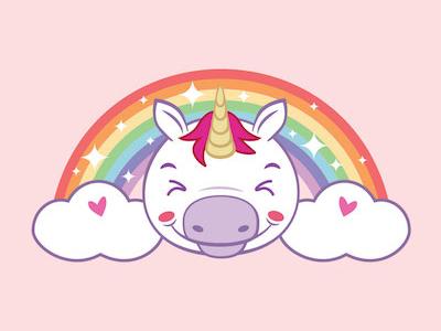 Rainbow unicorn kids pastel pink unicorn rainbow