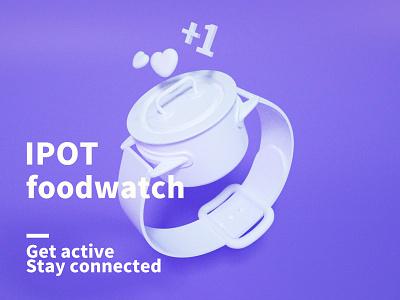 Ipot connect ipot pot wrist watch iwatch free clock food app