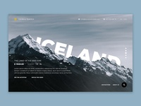 Website concept for tours and travels