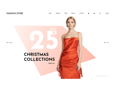 Online fashion store - concept design