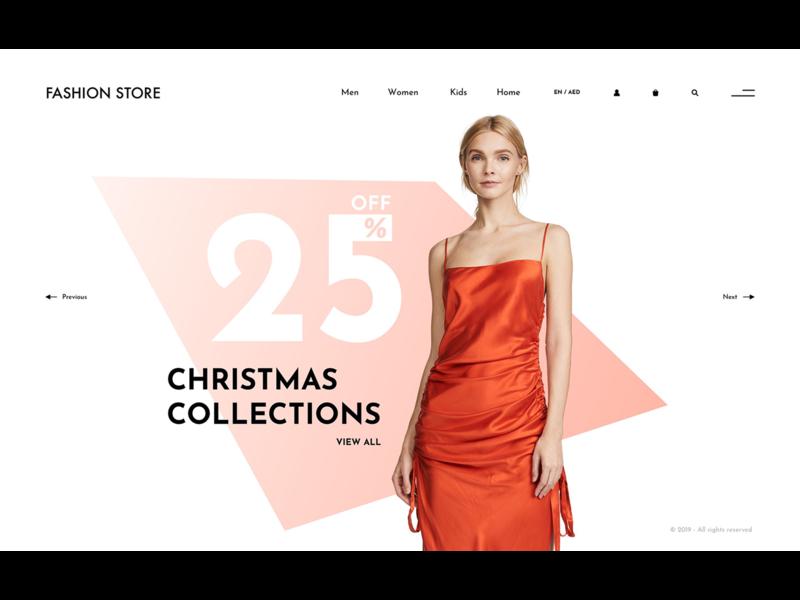 Online fashion store - concept design