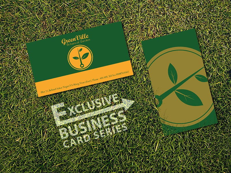 Garden Design Business Cards green ville botanical garden business card designsiddhesh