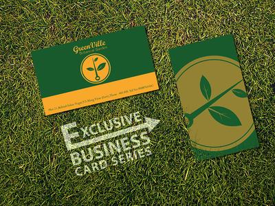 Garden Design Business Cards green ville botanical garden business card designsiddhesh