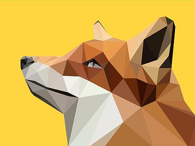 Fox lowpoly low poly polygon poly triangulation triangle geometric fox nature
