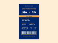 Daily UI (Day 24) - Boarding Pass mobile dailyui 024 dailyui