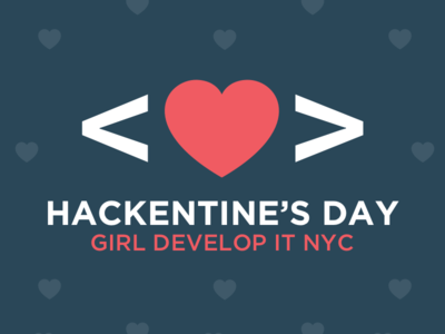 Hackentine's Day promotional event logo branding