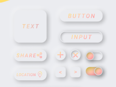 Button Designs Neumorphism