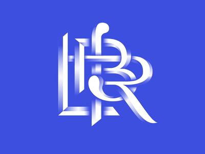 Monogram for a law firm ligature monogram design graphic design law firm lettering typography branding