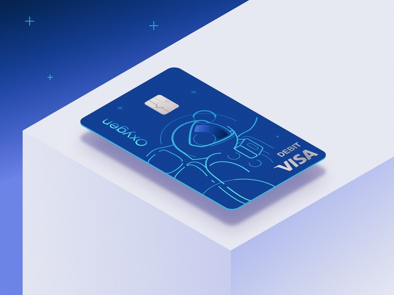 Bank card design for a fintech startup graphic design graphics digital illustration personal account design branding drawing vector illustration cosmonaut card bank bank card fintech