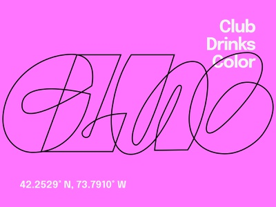Club Line Lettering type lettering visual digital art club letters letterforms graphics typography logo branding graphic design