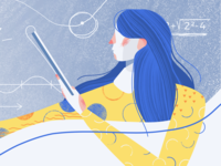 Education platform illustration