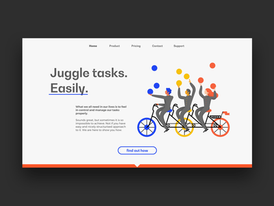 Task management web concept