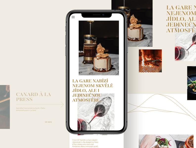 La Gare restaurant website typography web typography ui restaurant branding restaurant design restaurant web web design restaurant