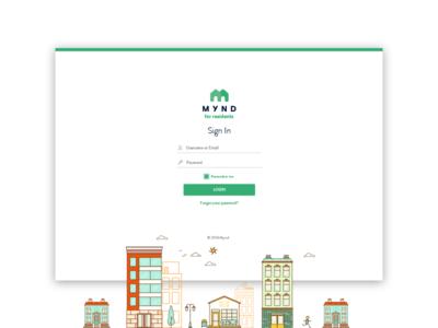Mynd for Residents property management website landing login