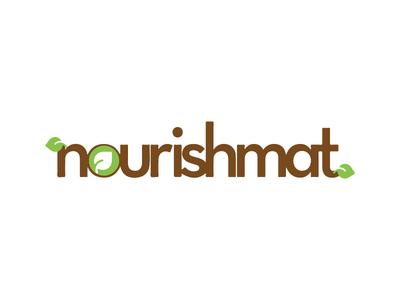 Nourishmat - Brand type logo identity creative logo branding