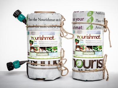 Nourishmat – Minimalist Packaging identity logo cpg food product packaging