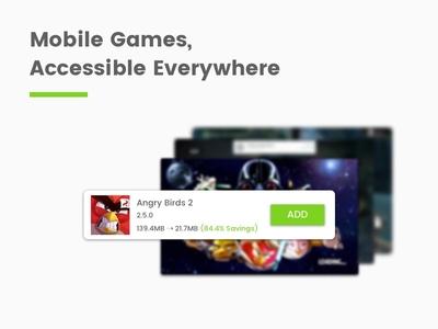 Mobile Game Cloud Virtualization modal desktop cloud games android web app