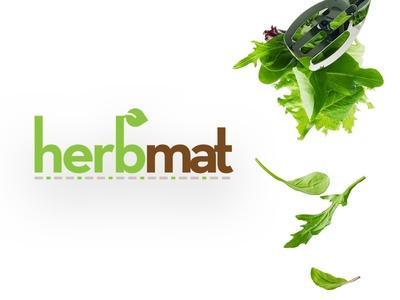 Herbmat - Logo design wordmark typography symbol food herb mark logotype logo
