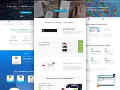 Numecent.com android app homepage interface landing page marketing native application website cloud virtualization