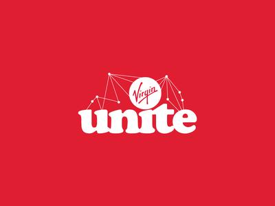 Virgin Unite Constellation brand wordmark virgin unite virgin logotype logo identity branding