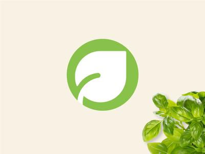 Nourishmat - Secondary Mark brand branding mark lime farm food fresh identity leaf illustration logo green