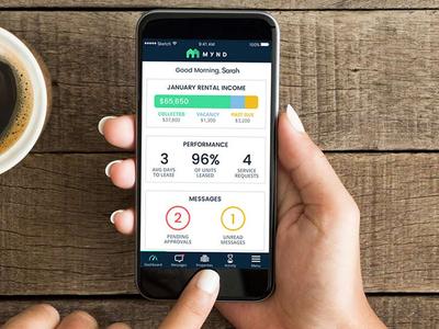 Mynd.co – Owner Real Estate App real estate property management app dashboard kpi mynd home house mobile ios