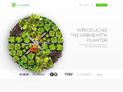 UrbnEarth – web planter salad food urbnearth ui web ux landing page homepage