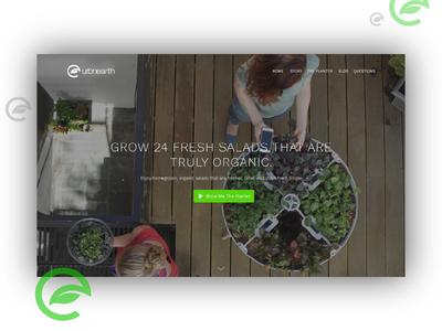 UrbnEarth – landing homepage landing page ux web ui urbnearth food salad planter