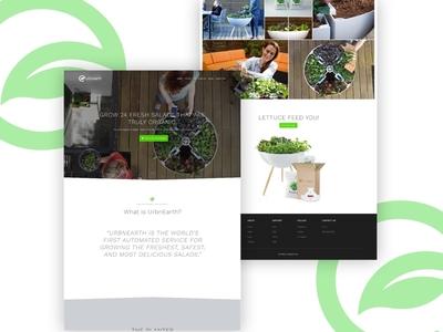 UrbnEarth - pre-order consumer hardware iot planter salad food website launch reservation pre-order