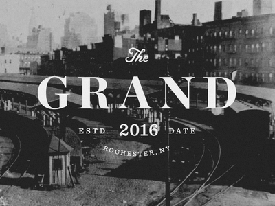 The Grand serif typography vintage logotype logo