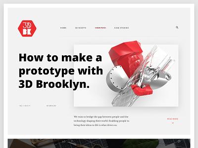 3DBK blog post ui design interface figma design figma article baskerville 3d printing render 3d layout blog web