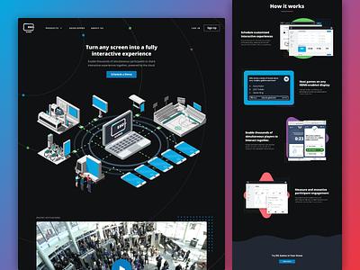 ESC Games Website dark theme design ux ui website technology homepage webdesign web