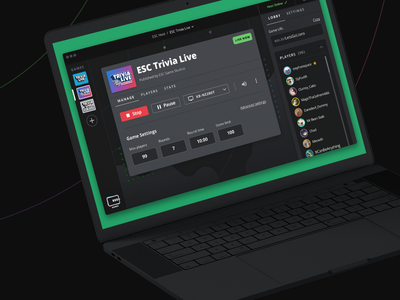 ESC Host App gaming product design product ux ui game launcher windows mac desktop app