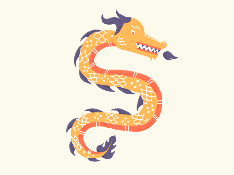 🐉🔥 dragon serpent snek snake illustrator brushes photoshop illustration