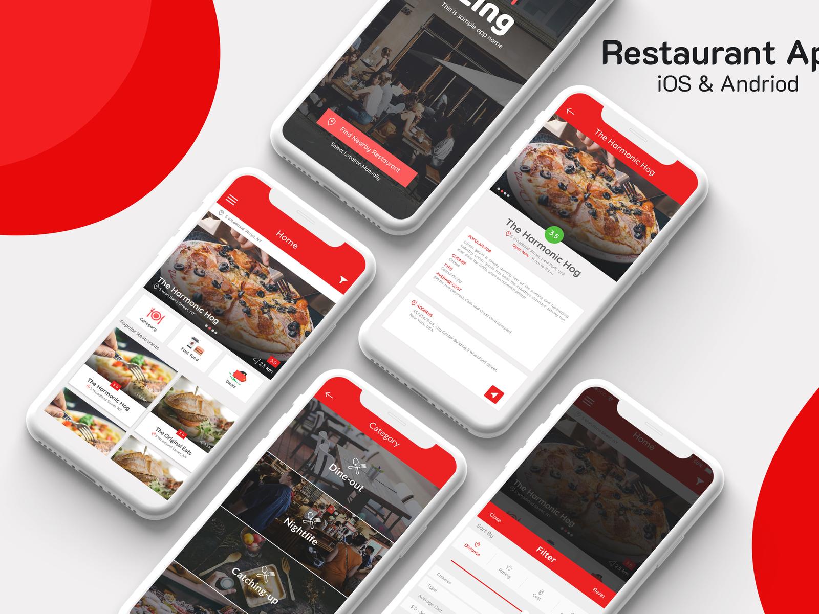 Restaurant app 4x