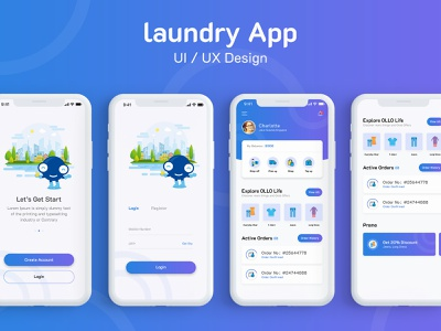 Laundry App laundry app design laundry design laundry laundry app flat typography ux ui design app