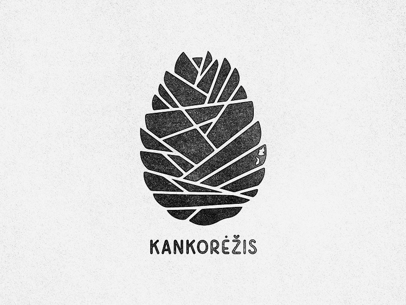 A Cone egg illustration cone drawing logo sign design texture print handtype hand typography font