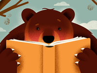 A bear with a book