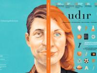 Magazine cover illustration strautniekas udir