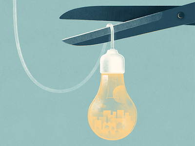 Editorials for Datum magazine illustration energy power electricity austria bulb wire light texture drawing poster