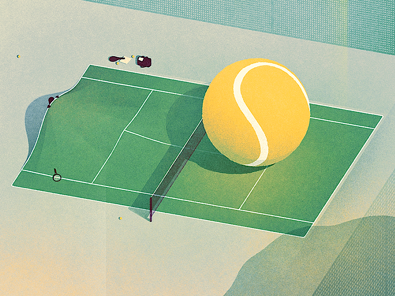 The meaning of courage. illustration tennis ball racket game courage editorial conceptual