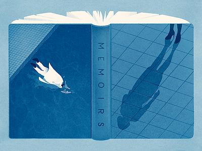 Memoirs drawing water death memoirs oprah editorial pool illustration
