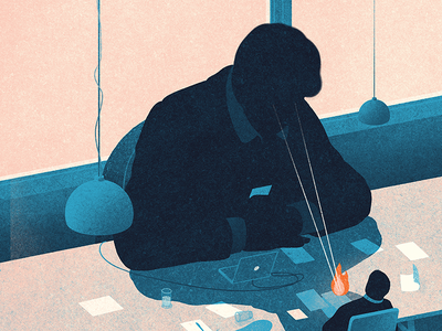 Rational Emotions office economics japan forbes illustration editorial